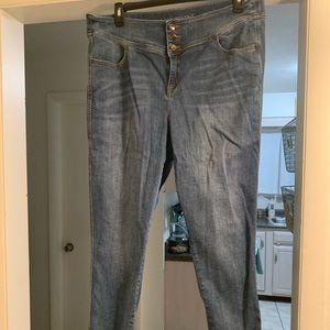 Lane Bryant high waisted skinny jeans